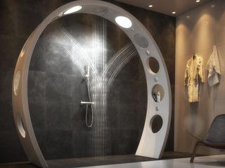 Arch Showerhead QS Supplies BathroomBathtubs & showers White