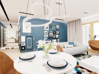 Ale design Grzegorz Grzywacz Modern living room Blue