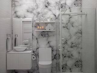 Gabriela Afonso Modern style bathrooms White