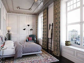 MARION STUDIO Eclectic style bedroom Multicolored