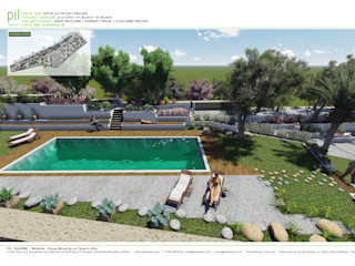 Pil Tasarım Mimarlik + Peyzaj Mimarligi + Ic Mimarlik Jardins mediterrâneos Bege