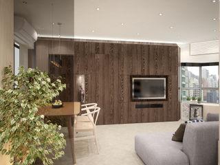 Illumination Terrace 光明臺 | Tai Hang Road 大坑道 Nelson W Design Salas modernas Madera Beige