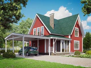 Mild Haus Casas de estilo clásico Madera Rojo