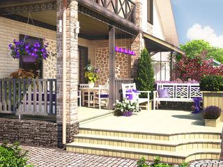 Мастерская ландшафта Дмитрия Бородавкина Jardines de estilo escandinavo Madera Morado/Violeta