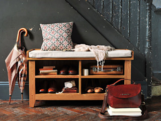Oakland Shoe Storage Bench and Cushion The Cotswold Company Corridor, hallway & stairsStorage Wood