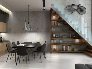 Studio 25 Couloir, entrée, escaliers industriels Gris