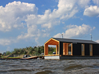 Floating DublDom in Kalyazin BIO - architectural Bureau of Ivan Ovchinnikov