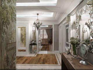 Студия дизайна Натали Хованской Classic style corridor, hallway and stairs Engineered Wood Beige