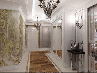 Студия дизайна Натали Хованской Classic style corridor, hallway and stairs Beige