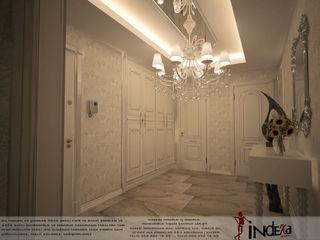 İNDEKSA Mimarlık İç Mimarlık İnşaat Taahüt Ltd.Şti. Classic style corridor, hallway and stairs Wood White