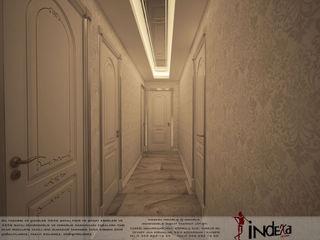 İNDEKSA Mimarlık İç Mimarlık İnşaat Taahüt Ltd.Şti. Corridor, hallway & stairsAccessories & decoration Silk White