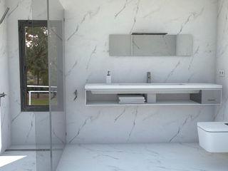 NUÑO ARQUITECTURA Modern Bathroom Quartz White