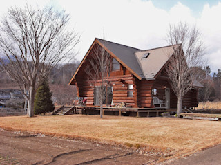 Log Cabin beside Japan Alps Cottage Style / コテージスタイル Country style house Wood Wood effect