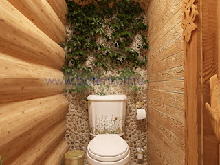 homify Country style bathroom Stone Beige