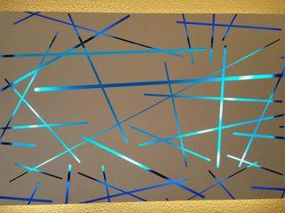 Alaya D'decor Espacios comerciales de estilo moderno Contrachapado Azul