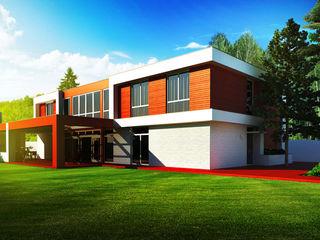 Коттедж в Подмосковье - Ximki-house Sboev3_Architect Дома в стиле модерн