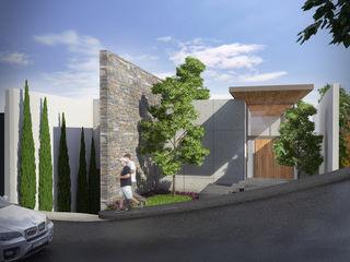 Lozano Arquitectos Case moderne Cemento Effetto legno