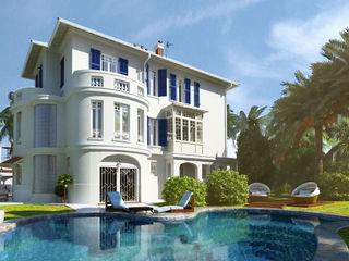 Визуализация эсктерьера виллы. Мастерская ландшафта Дмитрия Бородавкина Дома в средиземноморском стиле Камень Белый