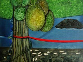 Indian Art Ideas ArteImagens e pinturas Têxtil Verde