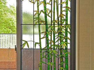 マルグラスデザインスタジオ Balkon, weranda i tarasRośliny i kwiaty balkonowe Szkło Zielony