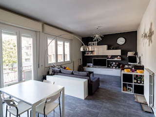 Bartolucci Architetti Moderne Wohnzimmer Grau