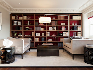 Lancasters Show Apartments - Living Room and Study LINLEY London 모던스타일 거실