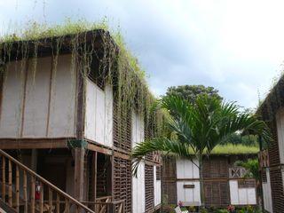 Pueblo Autosuficiente ABCDEstudio Casas de estilo tropical Madera Acabado en madera