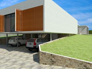Arquitetura do Brasil Garage/Rimessa in stile moderno
