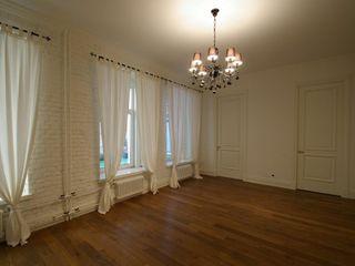 Chistie Prudy flat. Total reconstruction. Alexander Krivov 臥室 磚塊 White