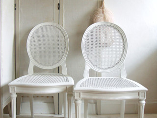Maisondora Vintage Living EetkamerStoelen & banken Hout Wit