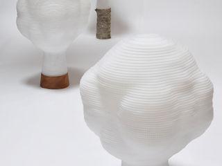 すがたかたち Living roomLighting Wood-Plastic Composite Transparent