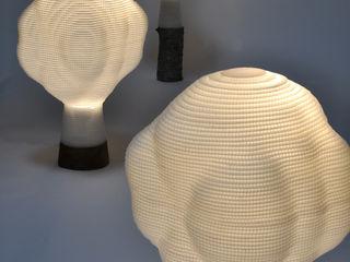 すがたかたち Corridor, hallway & stairs Lighting Wood-Plastic Composite Transparent