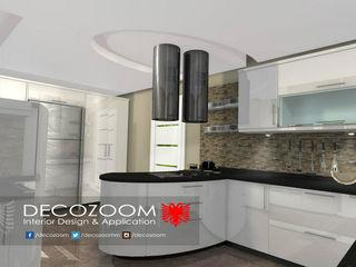 DECOZOOM INTERIOR DESIGN KitchenCabinets & shelves Kayu White