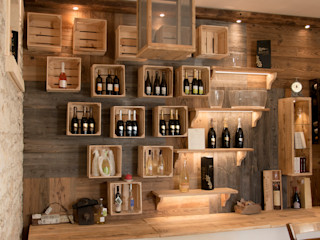 RI-NOVO Rustic style offices & stores Wood