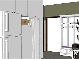 PLATZ Pasillos, vestíbulos y escaleras de estilo clásico Madera Blanco