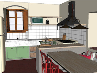 PLATZ Cocinas de estilo rural Madera Multicolor