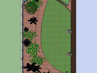 Long narrow modern garden Jane Harries Garden Designs