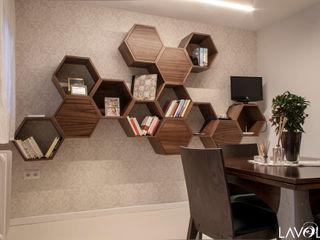 Lavolta Ruang Keluarga Modern Kayu Wood effect