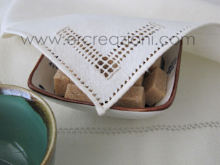 ERcreazioni - Eleonora Rossetti Creazioni KitchenAccessories & textiles Flax/Linen White