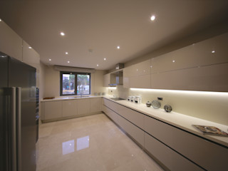 TEKNİK YAPI ÖRNEK DAİRE Kerim Çarmıklı İç Mimarlık Modern Mutfak
