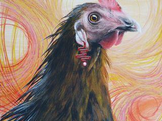 Malerei Tiere Dietrich Art Kunst Kunstobjekte MDF Mehrfarbig