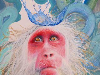 Malerei Tiere Dietrich Art Kunst Bilder & Gemälde MDF Blau