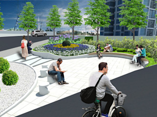 TAK Kartal Yarışma Projesi konseptDE Peyzaj Fidancılık Tic. Ltd. Şti. Modern Bahçe