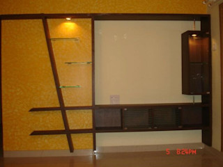 Alaya D'decor SalasMuebles de televisión y dispositivos electrónicos Contrachapado Multicolor