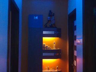 Alaya D'decor Vestíbulos, pasillos y escalerasIluminación Madera Multicolor