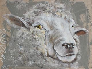 Odile Laresche Artiste Peintre Animalier HaushaltAccessoires und Dekoration Flachs/Leinen Grau