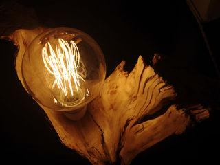 Lampada su radica Dilegno InLegno Cantina Legno Effetto legno