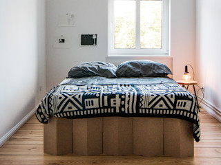 Birgit Glatzel Architektin BedroomBeds & headboards Paper Beige