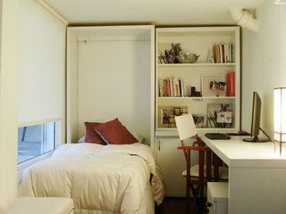 MinBai Minimalist bedroom Wood White