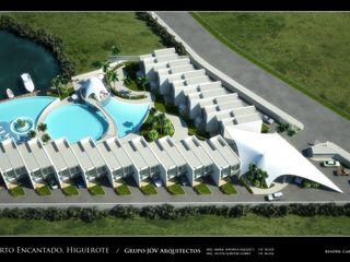 RESIDENCIAS COSTA BLANCA Grupo JOV Arquitectos Casas de estilo minimalista Pizarra Blanco